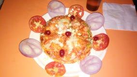 Pizza de Tomota Fotos de Stock