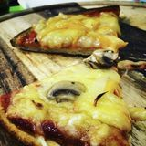 Pizza de Vegan Photographie stock libre de droits