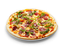 Pizza de viande de canard photo stock