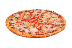 Pizza Dee Karne. Pizza isolated on white background Royalty Free Stock Photo