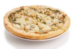 Pizza dei frutti di mare Fotografie Stock