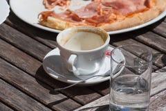 pizza del almuerzo de Italia Imagen de archivo libre de regalías