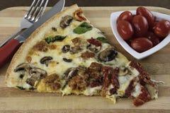 Pizza del artesano Foto de archivo libre de regalías