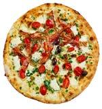 Pizza del bacon immagine stock