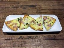 Pizza del bacon fotografia stock