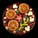 Pizza del chocolate Fotografía de archivo libre de regalías