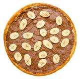 Pizza del cioccolato zuccherato Fotografia Stock Libera da Diritti