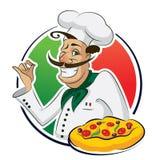 Pizza del cocinero Fotografía de archivo