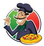 Pizza del cocinero Imagen de archivo libre de regalías