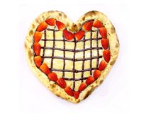 Pizza del corazón imagen de archivo libre de regalías