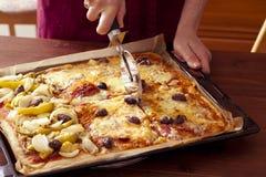 Pizza del corte Imagen de archivo