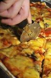 Pizza del corte Fotos de archivo
