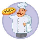 Pizza del cuoco Immagini Stock
