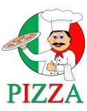 Pizza del fumetto Illustrazione Vettoriale