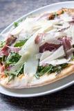 Pizza del jamón de Parma Imagen de archivo libre de regalías