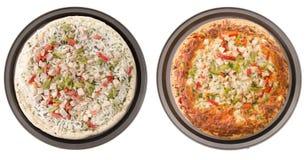 Pizza del pollo Immagine Stock