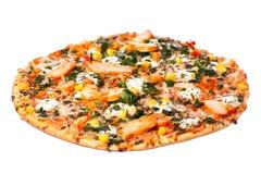 Pizza del pollo Fotografía de archivo