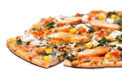 Pizza del pollo Foto de archivo