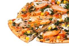 Pizza del pollo Imágenes de archivo libres de regalías
