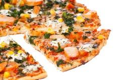 Pizza del pollo Fotos de archivo libres de regalías