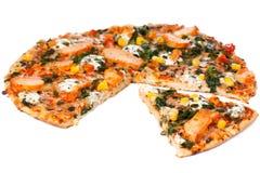 Pizza del pollo Fotos de archivo
