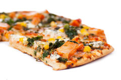 Pizza del pollo Imagenes de archivo