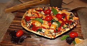 Pizza del pollo Fotografie Stock