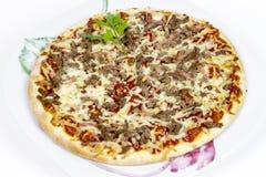 Pizza del pollo de la barbacoa Fotos de archivo libres de regalías