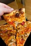 Pizza del pollo del búfalo Fotografía de archivo libre de regalías