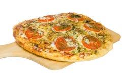 Pizza del primer Imágenes de archivo libres de regalías