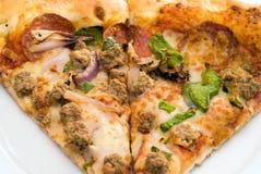 Pizza del primer Imagen de archivo libre de regalías