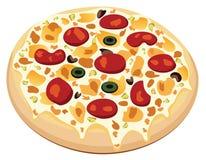Pizza del vector Imagen de archivo libre de regalías