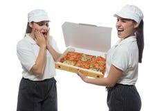 Pizza del wow Imagen de archivo libre de regalías