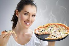 Pizza deliciosa Fotografia de Stock