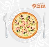 Pizza deliciosa Imagen de archivo libre de regalías