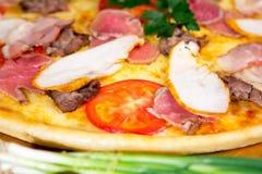 Pizza deliciosa foto de archivo libre de regalías