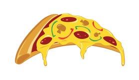 Pizza deliciosa con la historieta derretida del queso libre illustration