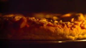 Pizza deliciosa no forno filme