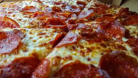 Pizza. Delicious pepperoni pizza at my local pizzeria Royalty Free Stock Photos