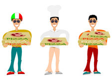 Pizza delivering Royalty Free Stock Image