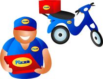 Pizza delivery Stock Photos