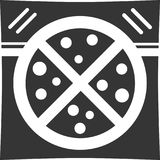 Pizza Delivery Bag - Restaurant Catering Supply. Sign, Icon or Logo for Online Food Ordering Option / Deliver / Cater to Customer. Label for Employee, Driver Stock Image