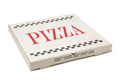 Pizza delivery box Stock Photography