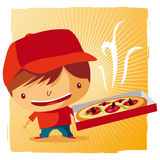 Pizza delivery boy Stock Photography