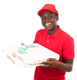 Pizza Delivery Boy. With two pizza cartons Stock Photography
