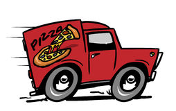 Pizza delivery car Stock Photos