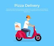 Pizza Delivery Concept Banner Design Stock Photo