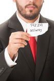 Pizza delivery concept Royalty Free Stock Images