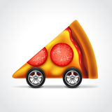 Pizza delivery concept vector illustration Stock Images