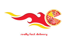 Free Pizza Delivery Flat 2 Stock Photography - 68613902